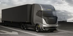The Nikola Tre fuel-cell-electric cabover is targeted for regional hauls up to 500 miles.