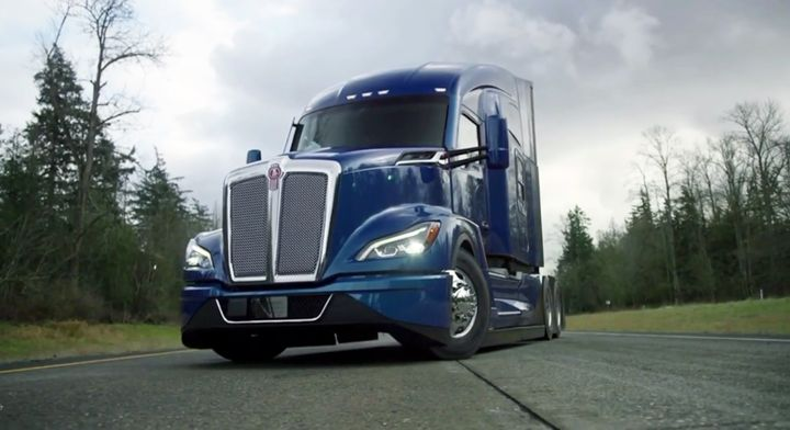 Kenworth said the T680 Next Generation's sleek design offers as much as 6% better fuel economy. - Photo: Screen shot from Kenworth virtual reveal event