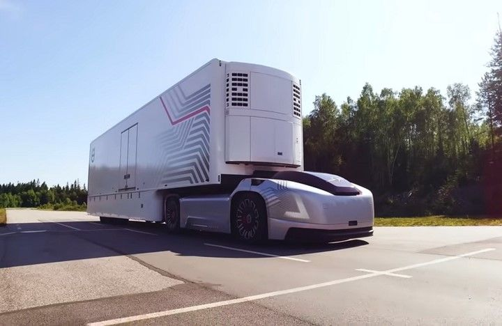 The Volvo Vera autonomous concept vehicle was developed specifically for port trucking applications in Europe. - Photo: Volvo Group