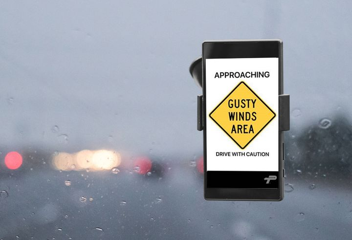 The Alerts feature of the PrePass mobile app warns drivers of potential problems ahead. - Photo: PrePass
