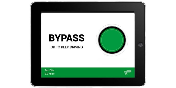 PrePass Safety Alliance completed expansion of its weigh station bypass mobile application to 19 locations operated by the Missouri Department of Transportation. - Illustration: PrePass