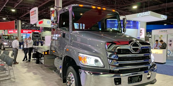 Hino plans to make the Cummins B6.7 engine available in its L Series (shown here at the North...