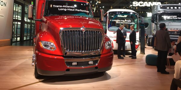 "In 2018, Navistar made an appearance in Traton's massive ""booth"" (it's an entire hall) at the..."
