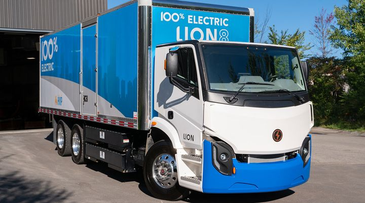 The LionBeat system will be installed on every Lion zero-emission truck and bus, making the vehicles instantly telematics-compatible.  - Photo: Lion Electric