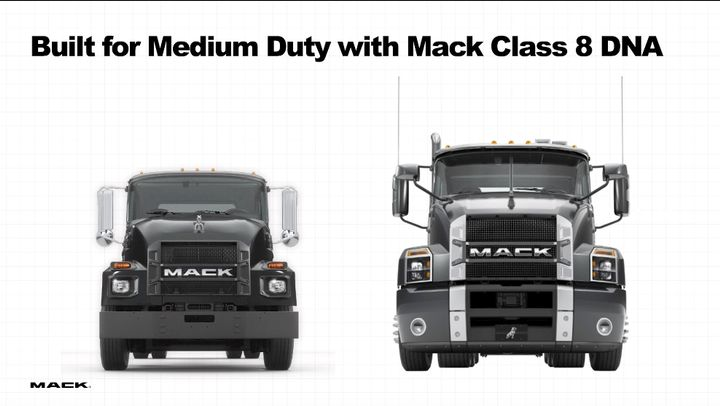 Mack officials pointed out the MD's resemblance to the Mack Anthem. - Photo: Screen capture of virtual press conference
