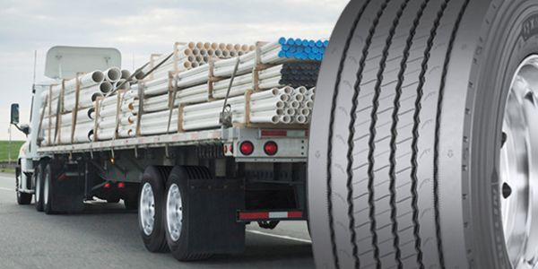 As a wide base single configuration, the tire enables a tractor trailer to carry up to 289 more...