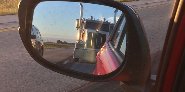 Views like this from a passenger-car view help drive public support for mandatory truck speed...