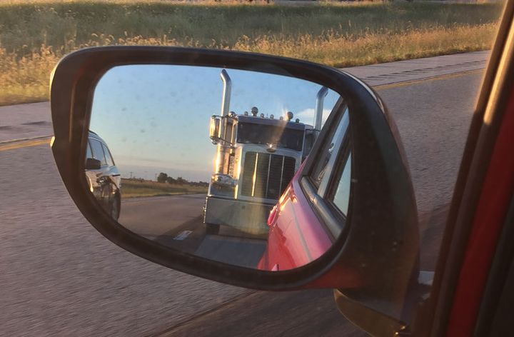 Views like this from a passenger-car view help drive public support for mandatory truck speed limiters. - Photo: Deborah Lockridge
