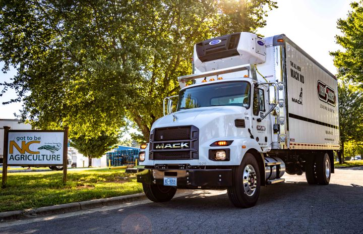 Van and refrigerated bodies are the most common applications for MD truck orders so far. - Photo: Mack Trucks