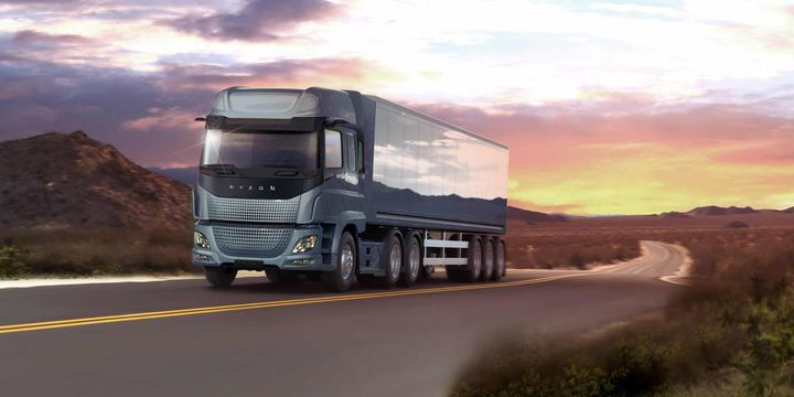 The initial hubs are expected to yield up to 4.5 tons of hydrogen each. This is enough hydrogen from each hub to power 100 heavy-duty commercial vehicles. - Photo: Hyzon