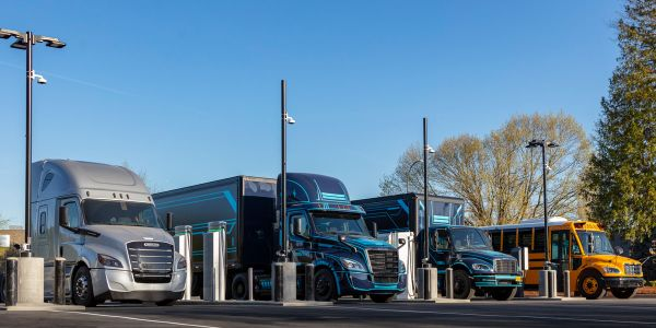 Electric Island opens with eight vehicle charging stations for electric cars, buses, box vans...