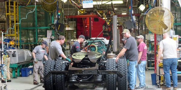Production will resume at Volvo Trucks North America's New River Valley Plant on May 3.
