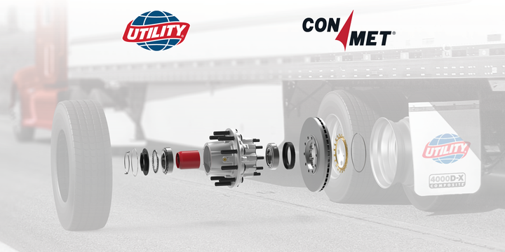 ConMet's Preset Plus wheel end hubs will be the standard base specification on all Utility Trailer models. - Illustration: Utility
