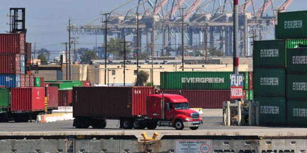 """The Port of Long Beach has started trying to prioritize """"dual moves,"""" which could help address..."""