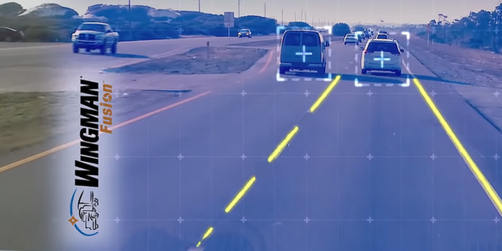Bendix has made multi-lane autonomous emergency braking available to be retrofitted on in-service vehicles, a feature that was unavailable on earlier iterations of Bendix Wingman Fusion. - Screenshot via Bendix