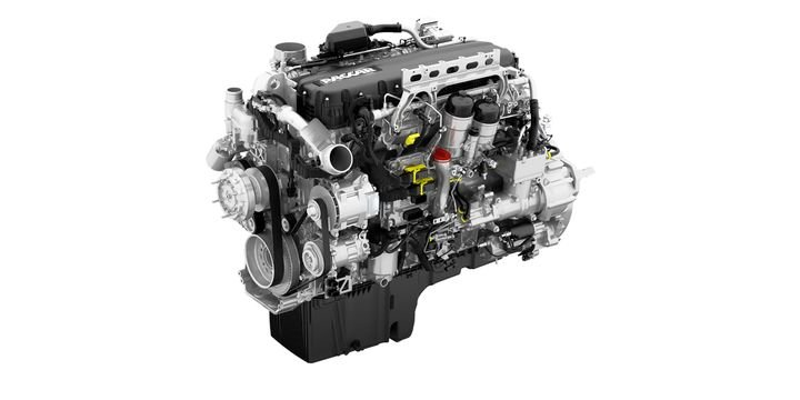 The 2021 Paccar MX-11 and Paccar MX-13 engines for Kenworth's Class 8 truck lineup feature re-designed internal components to enhance fuel economy. - Photo: Paccar