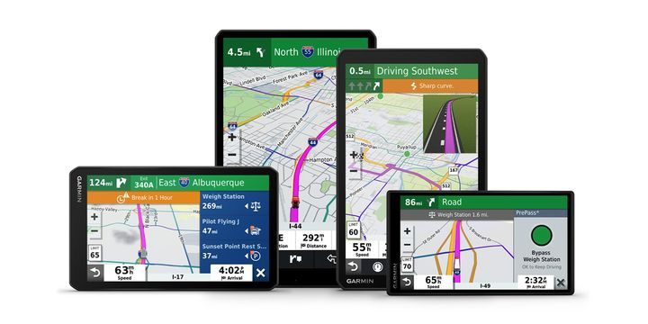 Garmin's latest series of dēzl over-the-road GPS truck navigators now receive notifications of upcoming weigh stations and bypass decisions for PrePass customers. - Photo: PrePass