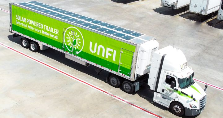 By operating the all-electric TRUs, UNFI anticipates it will save approximately 135,000 gallons of diesel fuel per year while reducing particulate matter pollutant emissions and greenhouse gas emissions. - Photo: UNFI