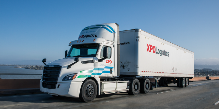 Data generated by the XPO pilot will help inform DTNA's final design of its battery-electric truck prior to full series production. - Photo: XPO