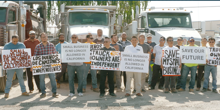 The California Trucking Association plans to petition the U.S. Supreme Court to consider its case against the state's new worker classification law. - File Photo: California Trucking Association