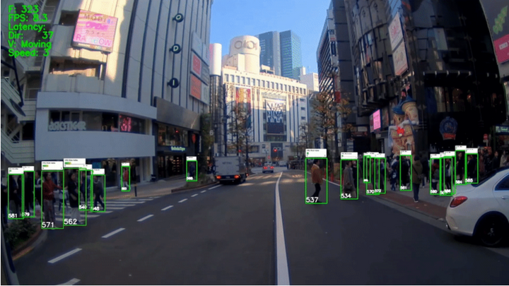 A new pilot project will use artificial intelligence to help identify pedestrians and other vulnerable road users in truck blind zones. - Photo: Together for Safer Roads