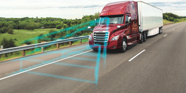 Detroit has added active speed intervention, lane assist with automatic braking, and brake hold mode to the Detroit Assurance suite of safety systems. - Photo: Detroit