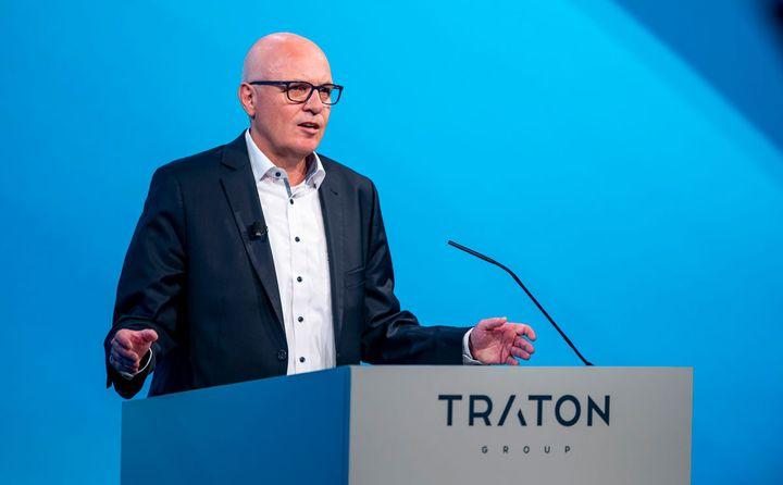 Traton CEO Matthias Gründler looks to China, battery-electric trucks, and autonomous technology. - Photo: Traton