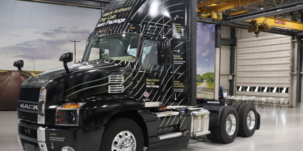 Mack Trucks' newly designed faring will increase fuel efficiency by up to 2% when paired with...