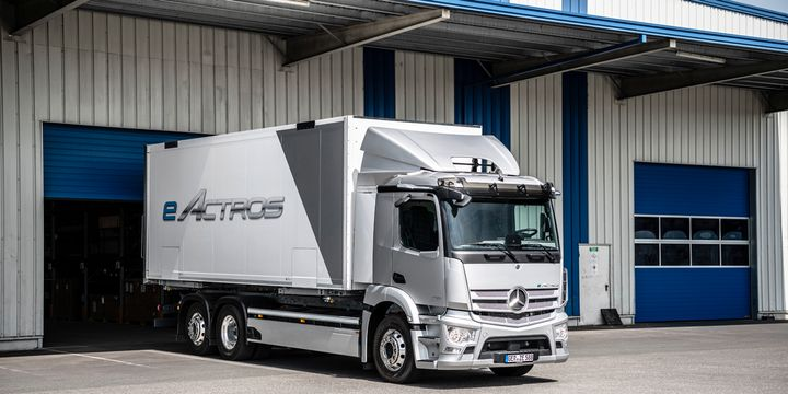 In the initial series production, the eActros will be available in in Germany, Austria, Switzerland, Italy, Spain, France, the Netherlands, Belgium, Great Britain, Denmark, Norway and Sweden - Photo: Daimler