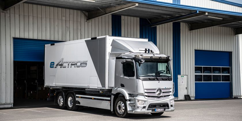 In the initial series production, the eActros will be available in in Germany, Austria,...