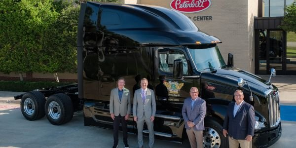 Peterbilt delivered the first production New Model 579 to Smith Transport in Roaring Spring,...