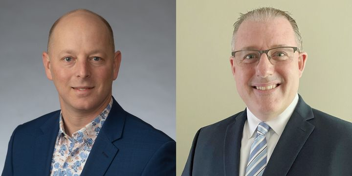 Sean Garney (shown left) and Steve Keppler will lead Scopelitis Transportation Consulting as co-directors while STC President and CEO Emeritus Dave Osiecki transitions into retirement late this year. - Photos:Scopelitis