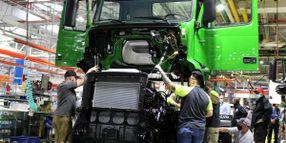 UAW Workers on Strike at Volvo Trucks North America Plant