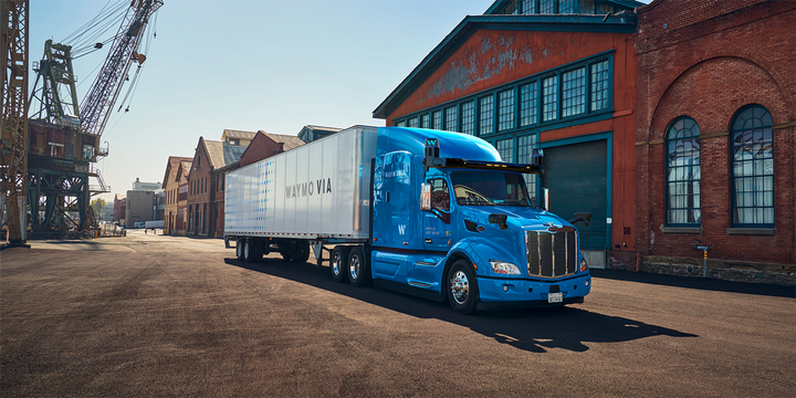 J.B. Hunt will complete a test run with Waymo Via, the company's autonomous Class 8 trucking unit powered by the Waymo Driver, to haul freight between facilities in Houston and Fort Worth, Texas. - Photo: Waymo