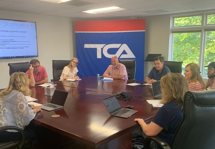 TCA and LaunchIt staff gather to layout plans for #TruckloadStrong and new image campaign. - Photo: TCA/LaunchIt