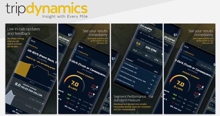 TruckLabs has launched TripDynamics, a gamified software platform for driver engagement, real‐time feedback and miles‐per‐gallon performance measurement. - Graphic: TruckLabs