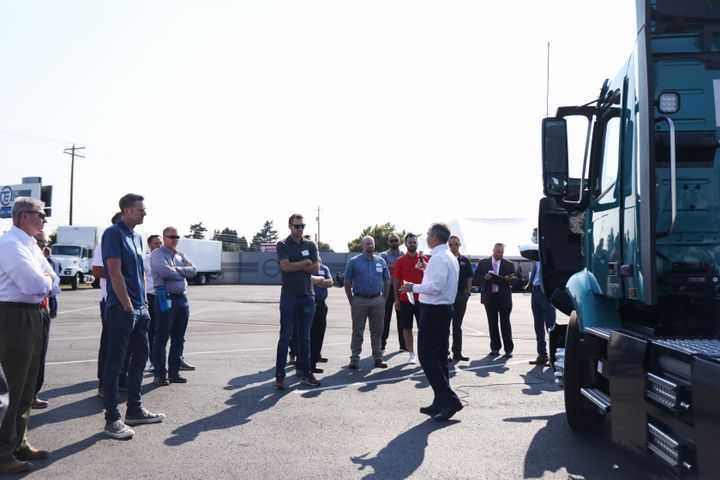 At the event, held at TEC Equipment's Portland, Oregon dealership, Volvo Trucks North America and Mack Trucks fielded questions from more than 75 TEC customers, vendors and industry stakeholders on the current and future state of battery electric transportation. - Photo: TEC Eqiupment