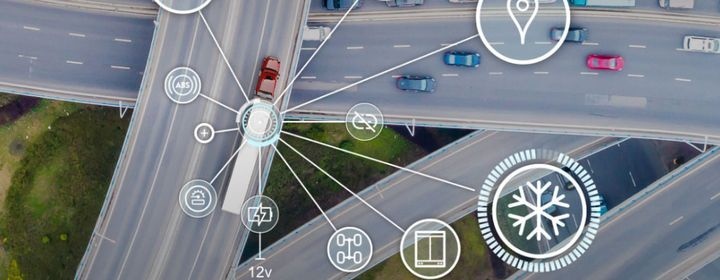 Great Dane's FleetPulse delivers real-time data such as GPS location, mileage data, geofences, automated yard checks, tethered status, heading, speed, etc. - Illustration: Great Dane