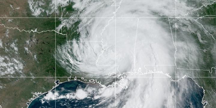 Hurricane Ida hit the Louisiana's Golf Coast as a Category 4 storm on Aug. 29. The storm is now a tropical depression. - Screenshot: NOAA