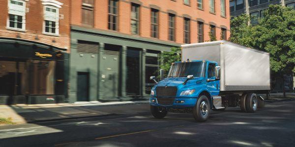Navistar's fully-electric, medium-duty International eMV Series trucks are in production and...