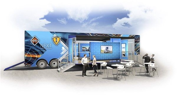 The mobile trailer will be used for sales, service and training events to create a cross-functional experience and provide end-to-end solutions. The NEXTperience trailer is expected to launch early 2022. - Photo: Navistar