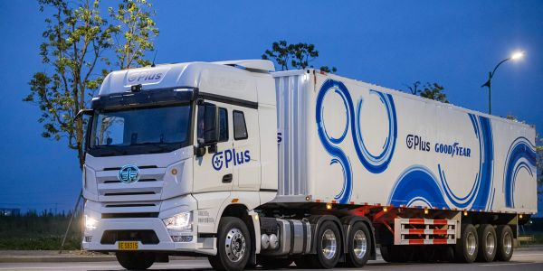 Plus and Goodyear are collaborating to make autonomous-truck technology more efficient and safer.