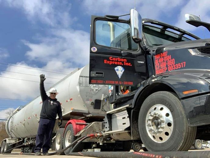 Fuel relief loads are one of the commodities covered under the FMCSA's extended COVID-19 emergency exemption. - Photo: Carbon Express