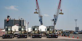Electric Yard Tractors go to Work in Port Newark