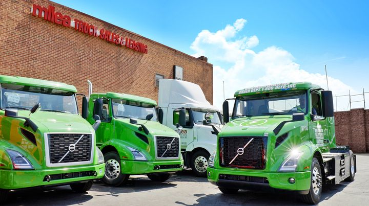 A Volvo VNR Electric bound for Manhattan Beer Distributors received its final pre-customer inspection at Milea Truck Sales and Leasing—the second Volvo Trucks dealership and the first on the East Coast to become a Volvo EV Certified Dealer. - Photo: Volvo