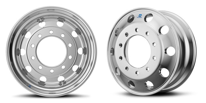 Alcoa Wheel has introduced a forged aluminum dual valve wheel. With a second valve stem the TPMS sensor can operate on one valve while air pressure is serviced on the other.  - Photo: Alcoa
