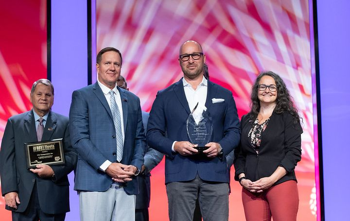 Boyle Transportation (145 drivers) won Best Overall Fleet in the small carrier category. - Photo: TCA