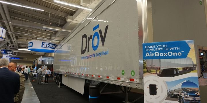 Drov's AirBoxOne can read any sensor on the trailer, change and control tire pressure, enable camera setups on the trailer, and provide driver alerts. - Photo: Vesna Brajkovic