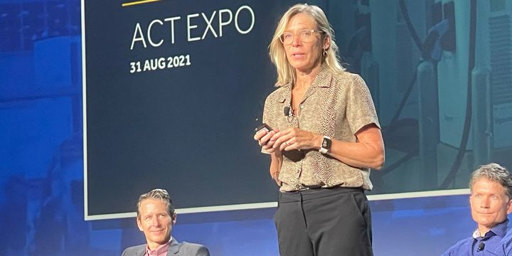 Cathy Zoi, president and CEO of EVgo, a supplier of electric charging stations, said that fleets need highly flexible and reliable power grid networks that a can accommodate a host of different charging requirements. - Photo: Jack Roberts