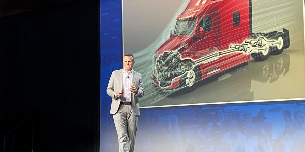 At the ACT Expo in Long Beach, California, Peterbilt General Chairman Jason Skoog mapped out...